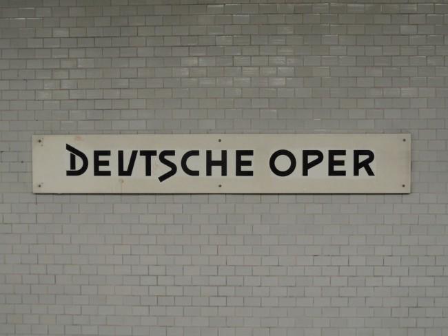Berlin - U-Bahnhof Deutsche Oper - Linie U2 |© Ingolf / Flickr