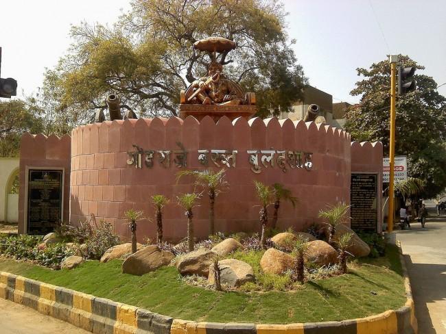Statue of Gond Raje Bakht Buland Shah | © Ganesh Dhamodkar