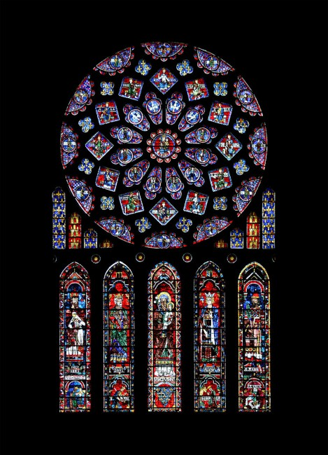 Rose window at Chartres Cathedral | © WikiCommons