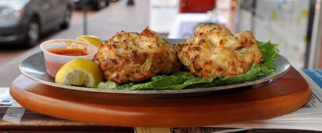 Jumbo lump crab cakes at Chick and Ruth's Delly, Annapolis | Courtesy Chick and Ruth's Delly,