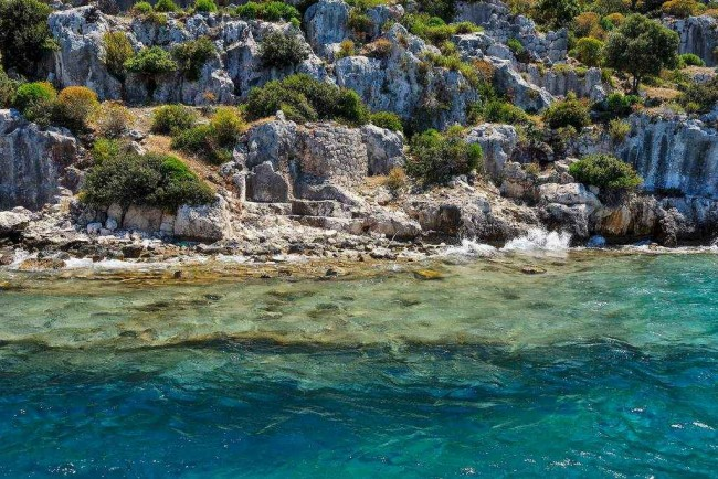 Ancient submerged city in Kekova