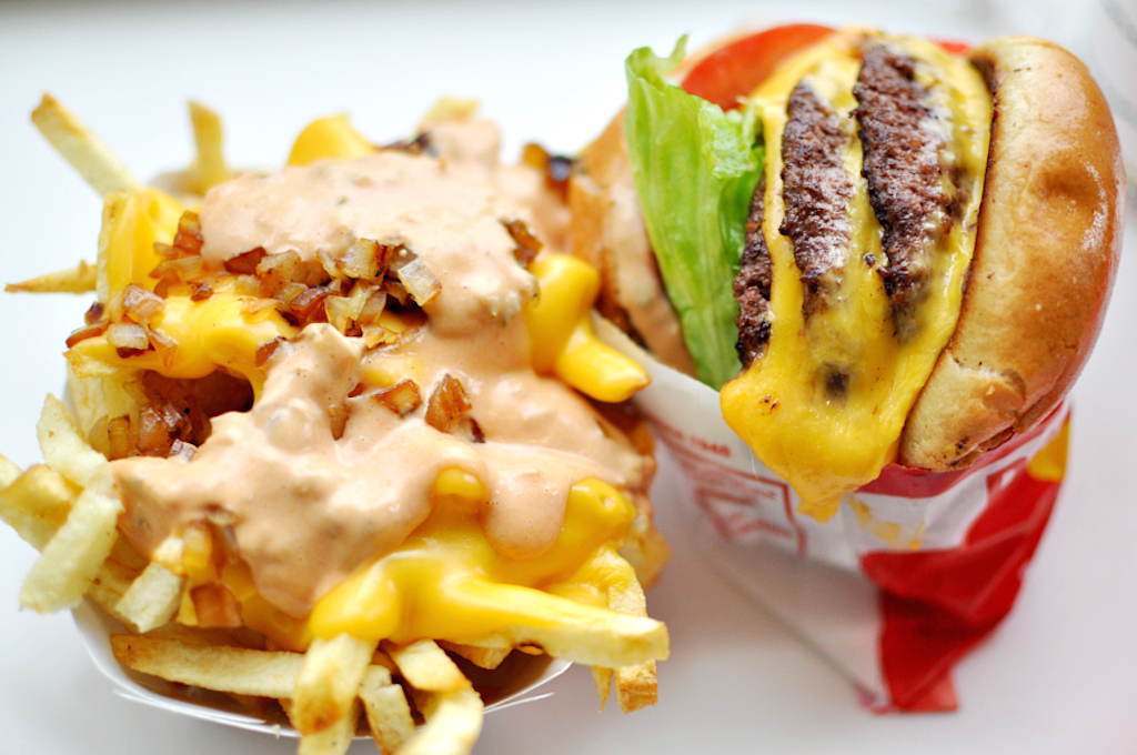 Animal Fries and 3x3 Cheeseburger   ©punctuated / Flickr Commons