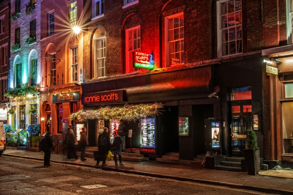 'Ronnie Scott's Jazz Club, Frith Street, Soho, London'|©Dave Wood/FlickrUpload