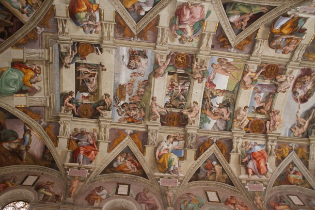 Michelangelo, Ceiling of the Sistine Chapel, Vatican City, 1508-1512 | © Brian Gratwicke/Flickr