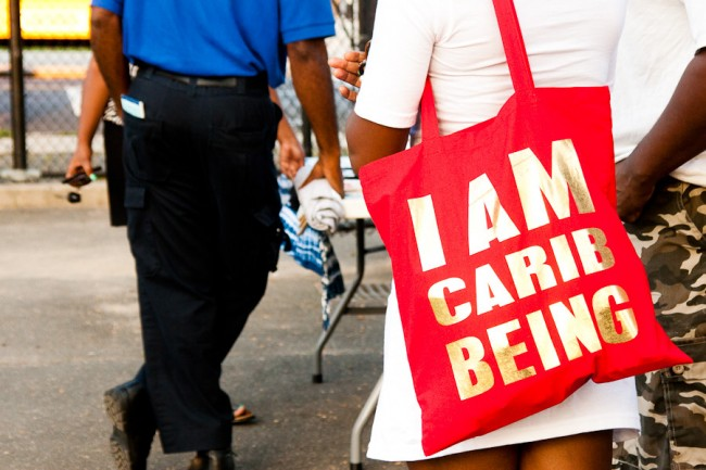 A tote from the I AM CARIBBEING line | Courtesy of CaribBEING