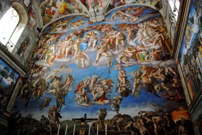 Michelangelo, The Last Judgment, Sistine Chapel, Vatican City, 1536-1541 | © Kevin Gessner/Flickr
