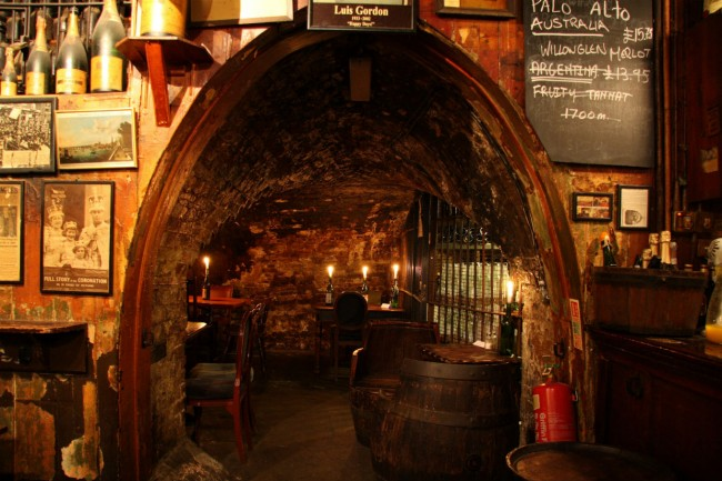 The iconic location of the oldest wine bar in London | Courtesy of Gordon's Wine Bar