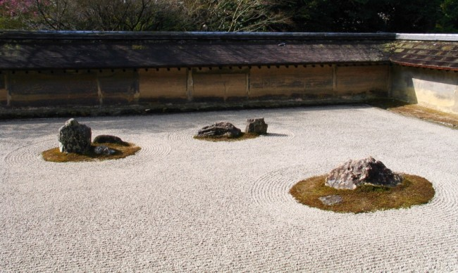 Stone and Sand Garden at Ryoanji