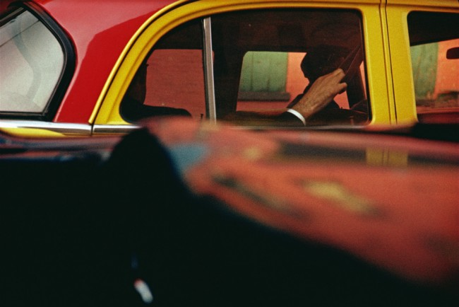 Taxi, ca. 1957 © Saul Leiter Courtesy Howard Greenberg Gallery, New York