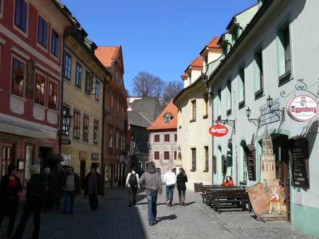 A typical Krumlov street | © Wolfgang Sauber/WikimediaCommons