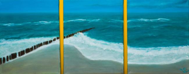 Triptych 'The sea' by Sabine Frömmer /Courtesy Anuschka Theunissen