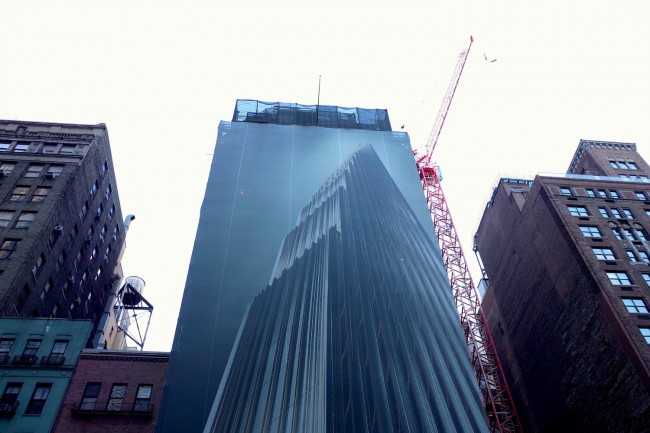 The construction site of 111 West 57th | © Smart Scott Photography