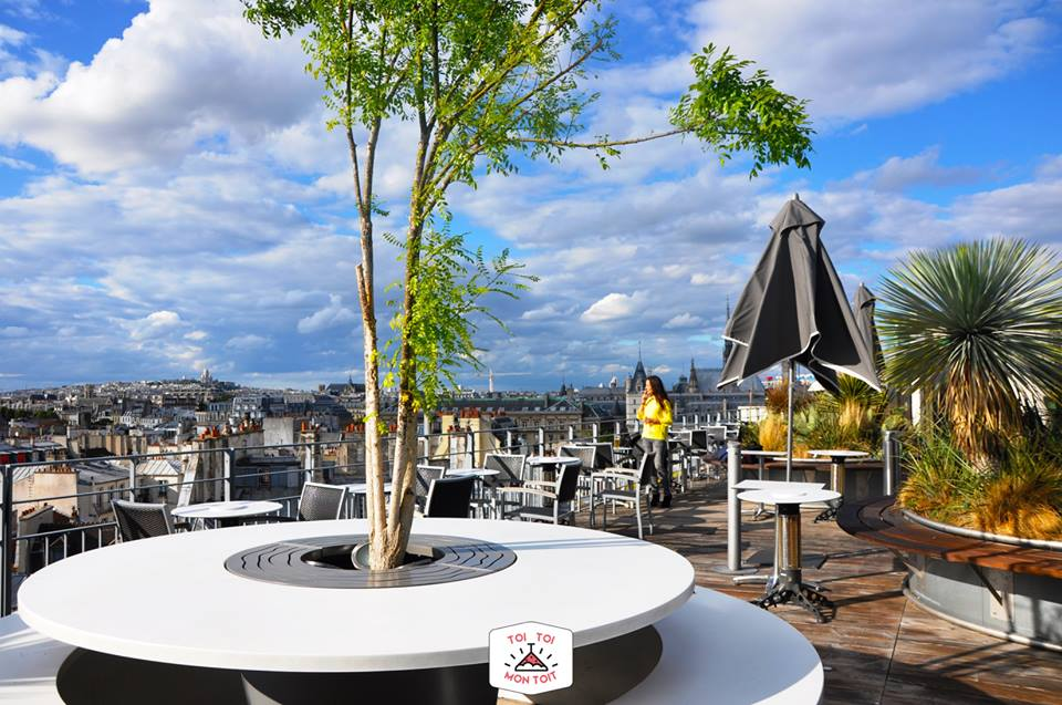 the 10 best rooftop bars in paris. Black Bedroom Furniture Sets. Home Design Ideas
