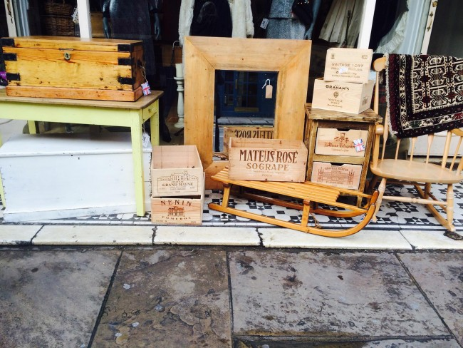 Outside shop display at Joli Vintage Living | courtesy of Joli Vintage Living