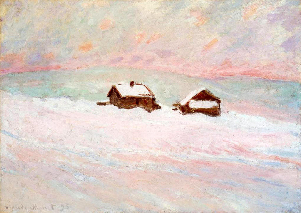 Claude Monet Houses In The Snow