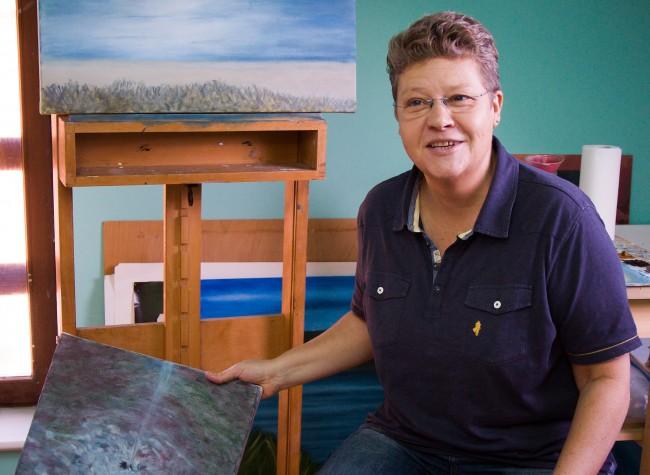 Sabine Frömmer in her studio/Courtesy Anuschka Theunissen