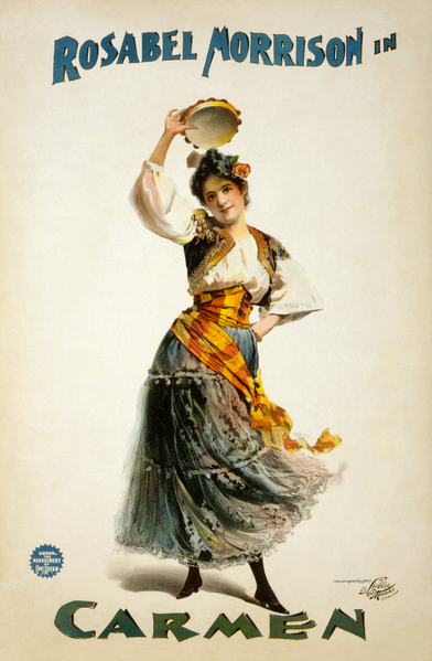 Poster for a circa 1896 American production of Georges Bizet's Carmen | © Perey / WikiCommons
