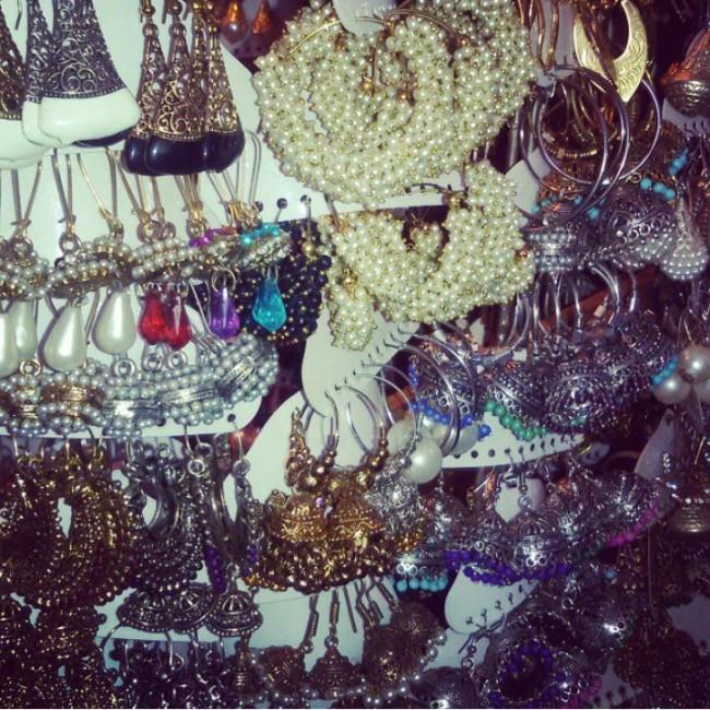 Earrings at street stall. Courtesy: Riddhi Sheth