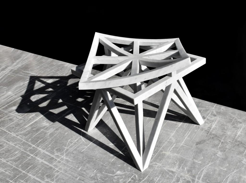 Aljoud Lootah Unfolding Unity Stool   Courtesy Design Days Dubai