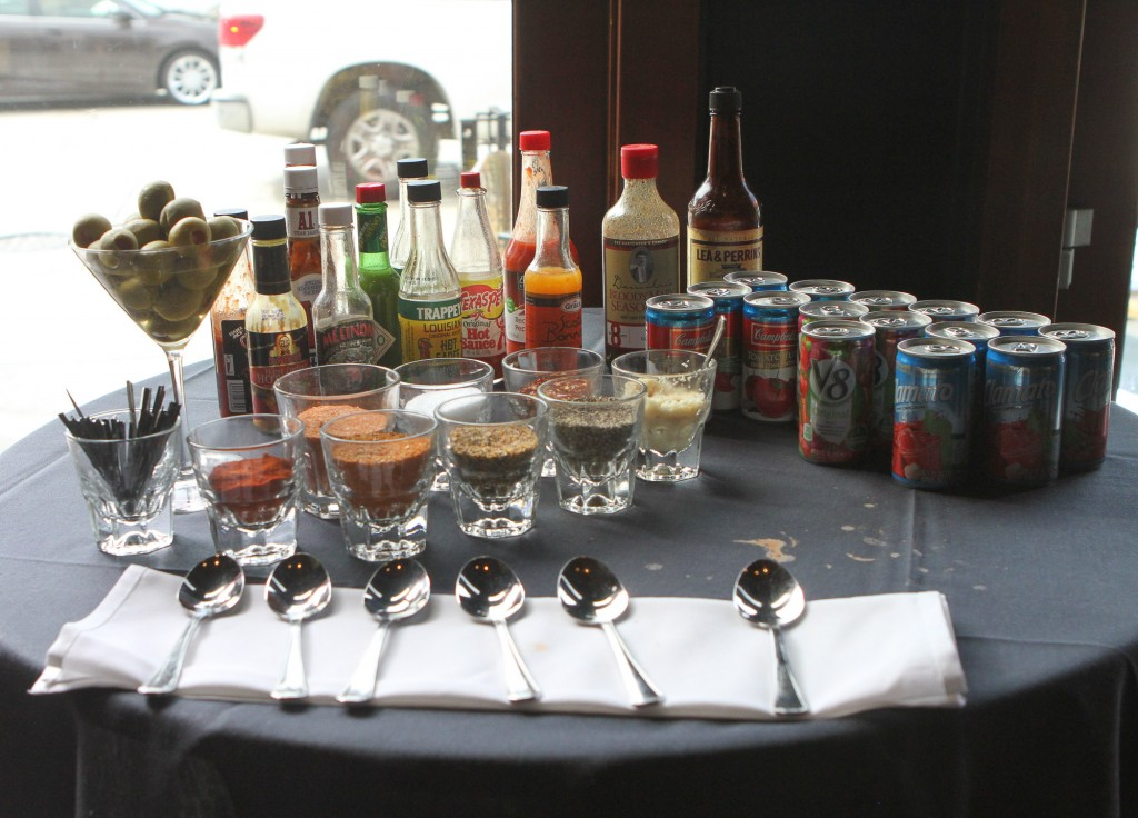 Bloody Mary Bar. Courtesy of Rush Street