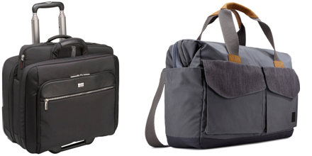Case Logic's Checkpoint Friendly Rolling Laptop Case and LoDo Satchel. Photo Credit: Case Logic