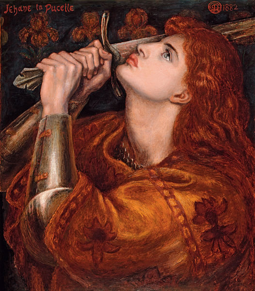 Joan of Arc/by Rossetti/Wikicommons