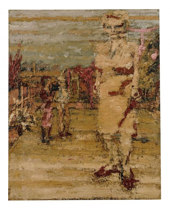 S.A.W in the Garden, Frank Auerbach | Courtesy of Marlborough Fine Art