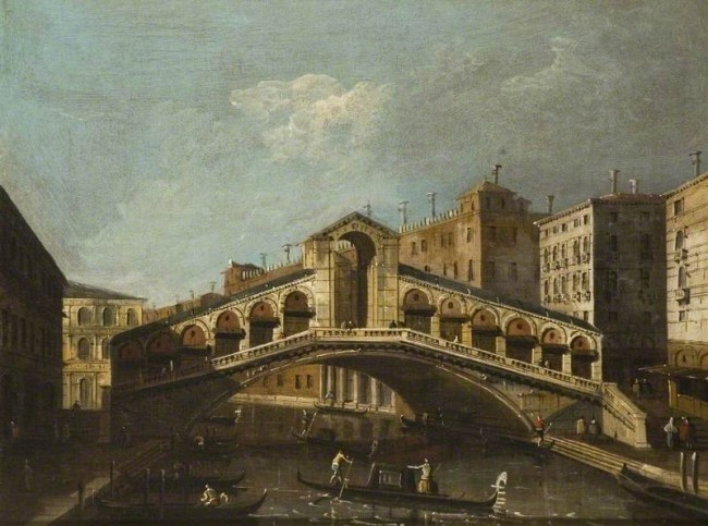 Canaletto; View of the Rialto Bridge, Venice | © Southend Museums Service / Art UK