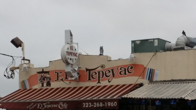 The sign outside of El Tepeyac photo by Cristina