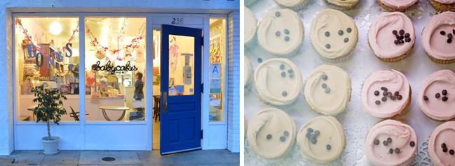 Erin McKenna's Bakery's exterior and cupcakes. Photo credit: Frank McKenna