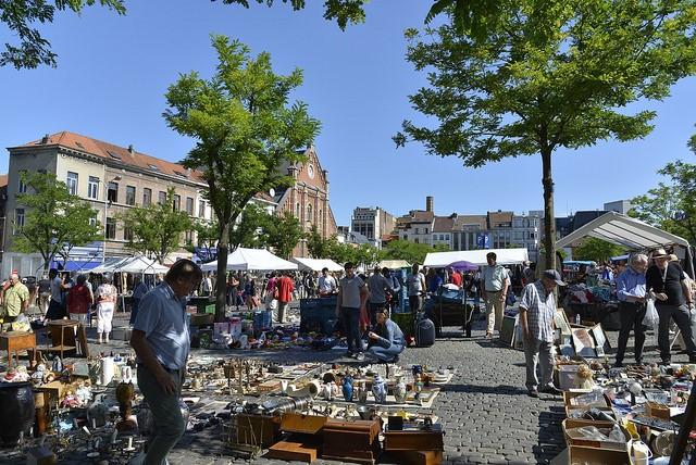 Image result for Jeu de Balle Flea Market, Belgium