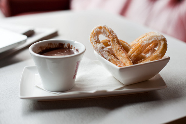 Churros and chocolate at Pinchito Tapas| © Matt Biddulph/Flickr