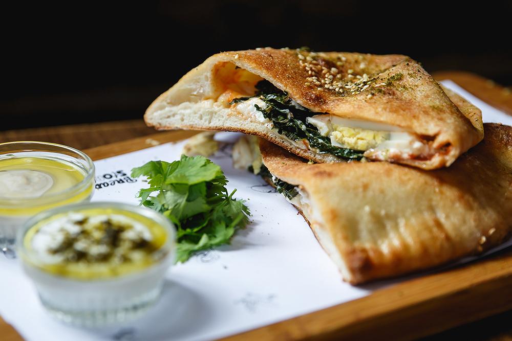 Spinach Sambusak | Courtesy of Matan Katz
