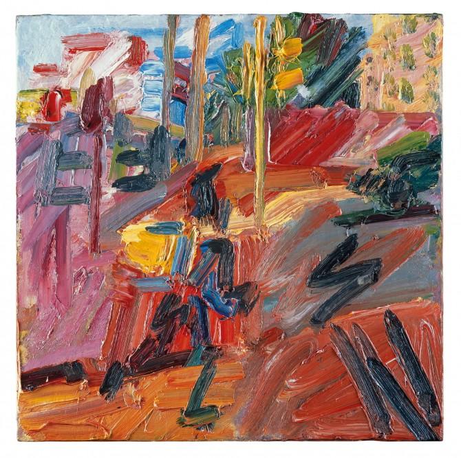 Hampstead Road, High Summer, Frank Auerbach |Courtesy of Marlborough Fine Art