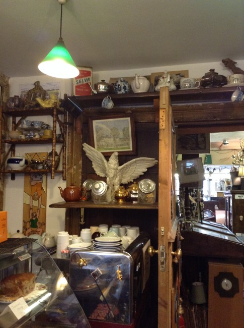 The tea shop at The Junk Shop and Spread Eagle | courtesy of The Junk Shop and Spread Eagle