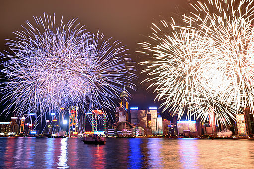 Fireworks in Hong Kong | © Michael Elleray