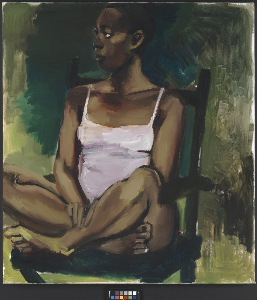 Lynette Yiadom-Boakye, A Head for Botany, 2015. Courtesy: Corvi-Mora, London and Jack Shainman Gallery, New York. Copyright the artist. Photography: Marcus Leith, London.