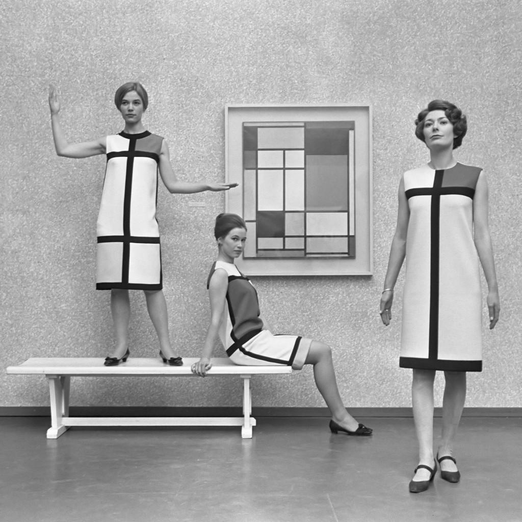 Mondrian dress by Yves Saint Laurent, 1965 © WikiCommons