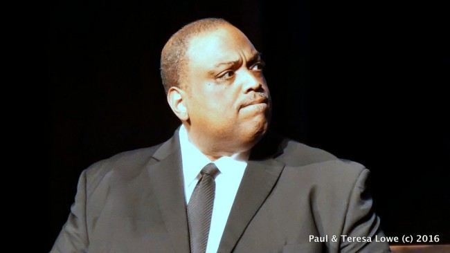 "Actor Greg Manns delivers a compelling performance of Reverend Ralph Abernaty, one of Martin Luther Kings best friends in ""Martin Duty Calls"""