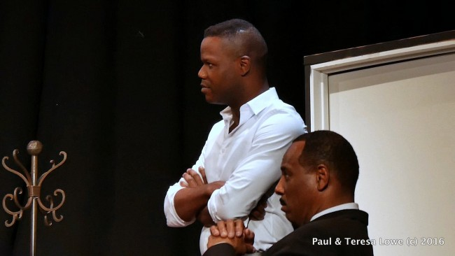 "Actor Tory Smith plays a young fearless John Lewis who is side by side in the civil rights movement with Dr. martin Luther King Jr in the powerful stage play ""Martin Duty Calls"""