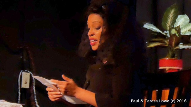 "Daebreon Poiema delivers a heartwrenching performance as Coretta Scott King the widow od slain civil rights leader Dr. martin Luther King Jr in ""Martin Duty Calls"""