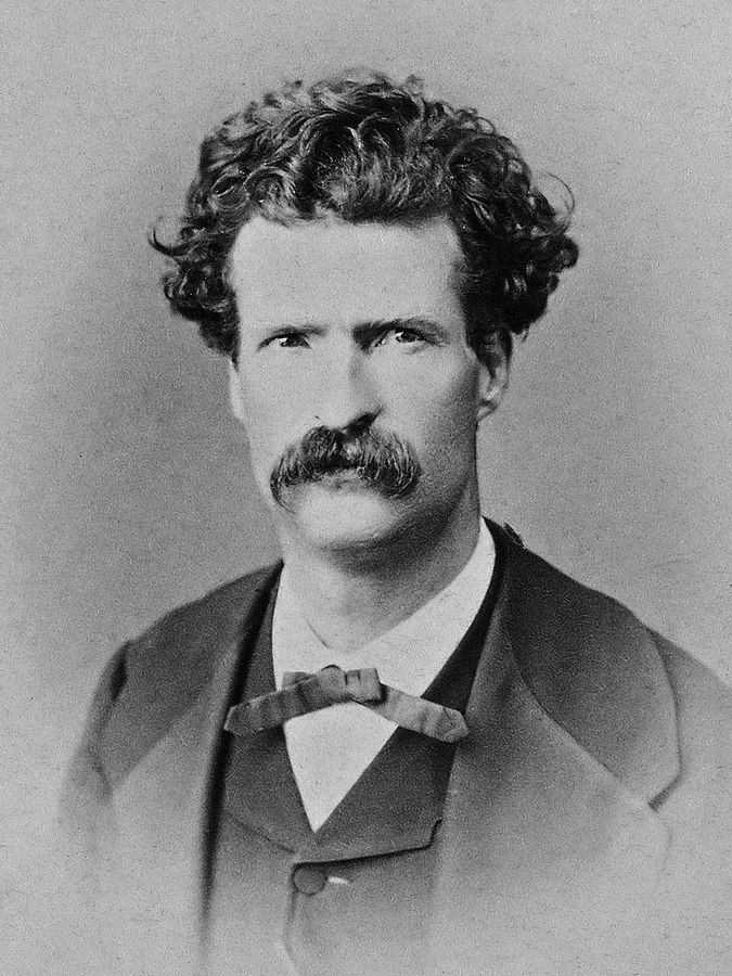 Twain in 1867, Abdullah frères @ Wikipedia Commons