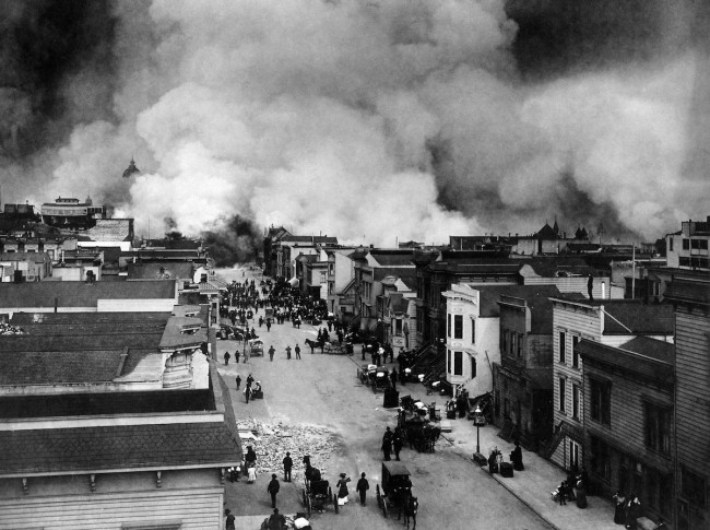 Mission District in Flames © H.D. Chadwick/Wikipedia