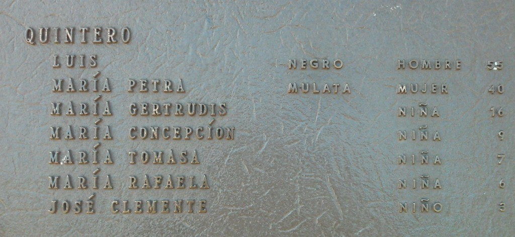 Close-up look of Los Pobladores plaque, dedicated to the founders of Los Angeles, including Black and mulatto families. © Marie Cradle.