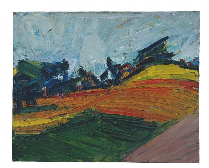 Primrose Hill, Frank Auerbach | Courtesy of Marlborough Fine Art
