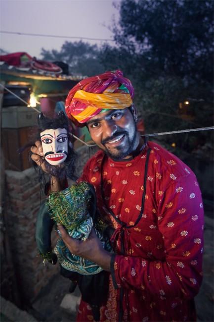 Puppeteer of Kathputli Colony | © Serge Bouvet/WikiCommons