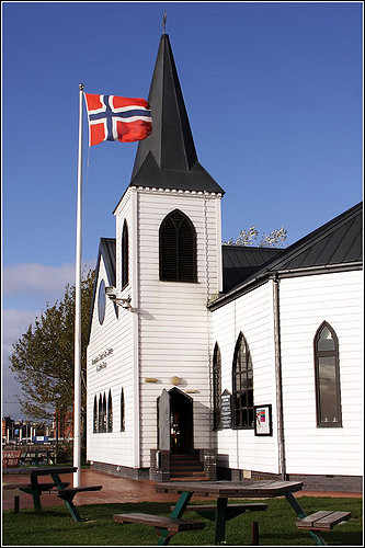 Norwegian church where Roald Dahl was baptised | © Ben Salter /Flickr