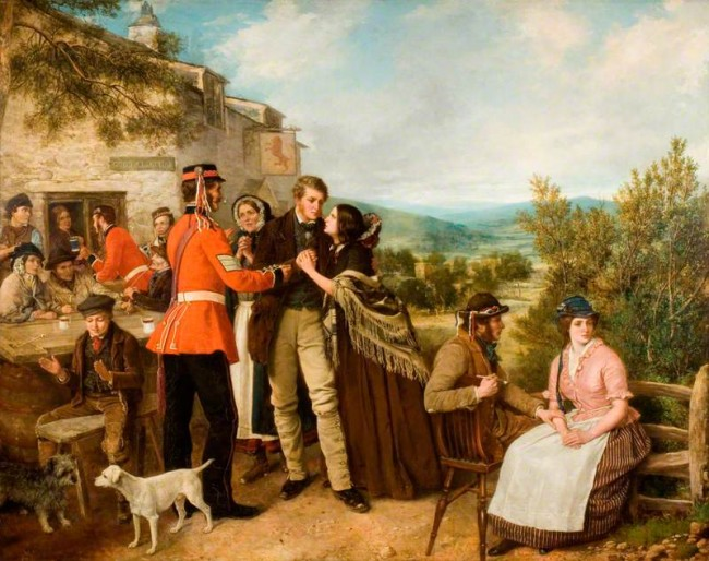 The Recruiting Sergeant (The King's Shilling) by Henry Nelson O'Neil (1817–1880) | © Staffordshire Heritage & Arts / Art UK