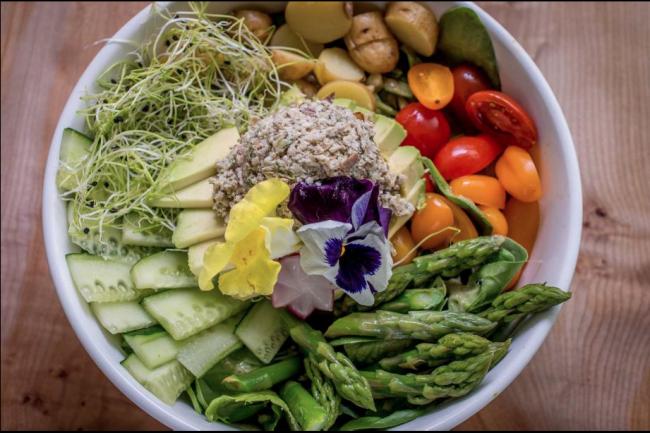 """Tuna salad"" at Nourish Cafe | Courtesy of Nourish Cafe"