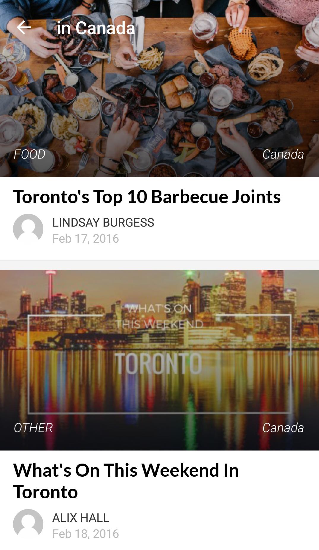 incontri Essentials Toronto
